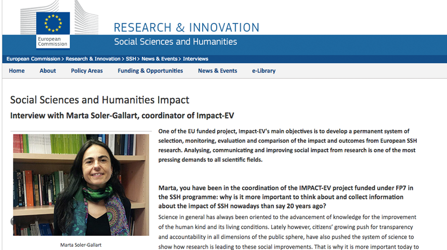 Social Sciences and Humanities Impact – EC Interview with Marta Soler