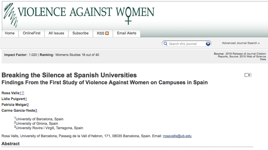 Breaking the silence at the Spanish Universities