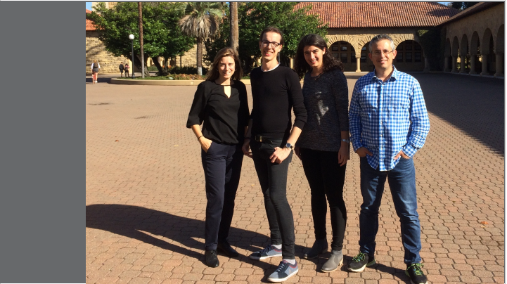 Four CREA researchers at Standford University
