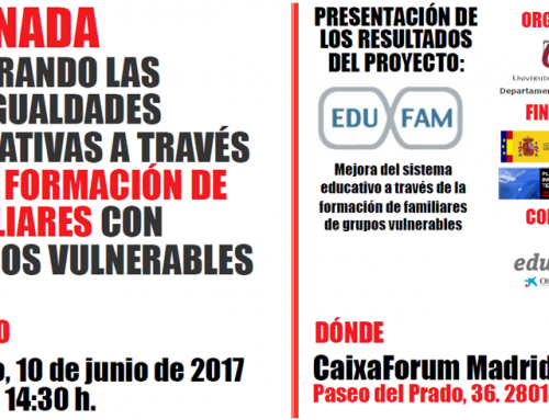 Presentation of R+D EDUFAM results in CaixaForum Madrid, June 10, 2017