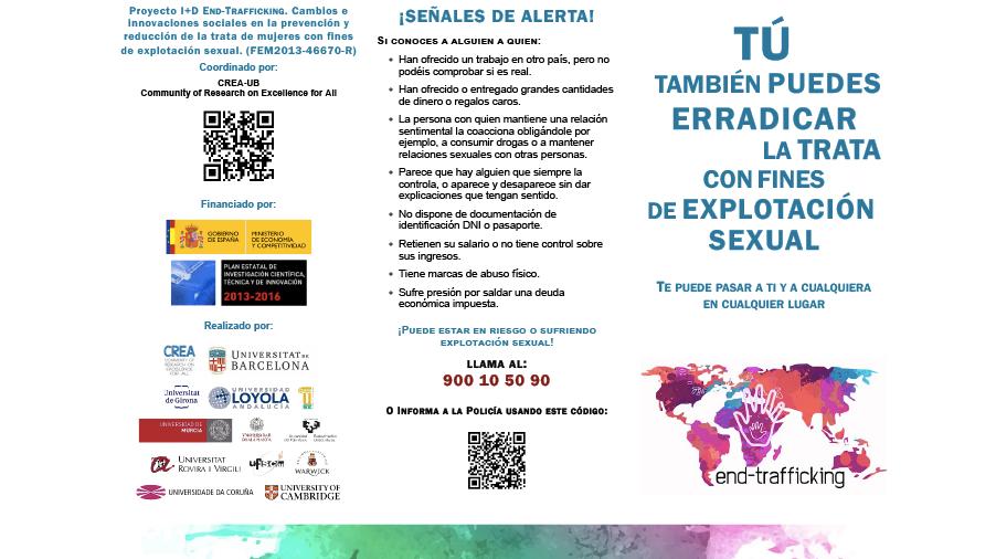 18 de octubre, Día Europeo contra la trata de personas. Claves del I+D END-TRAFFICKING para prevenir la trata.