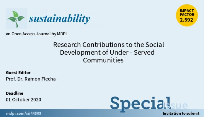 "Call Special Issue ""Research Contributions to the Social Development of Under-Served Communities"""